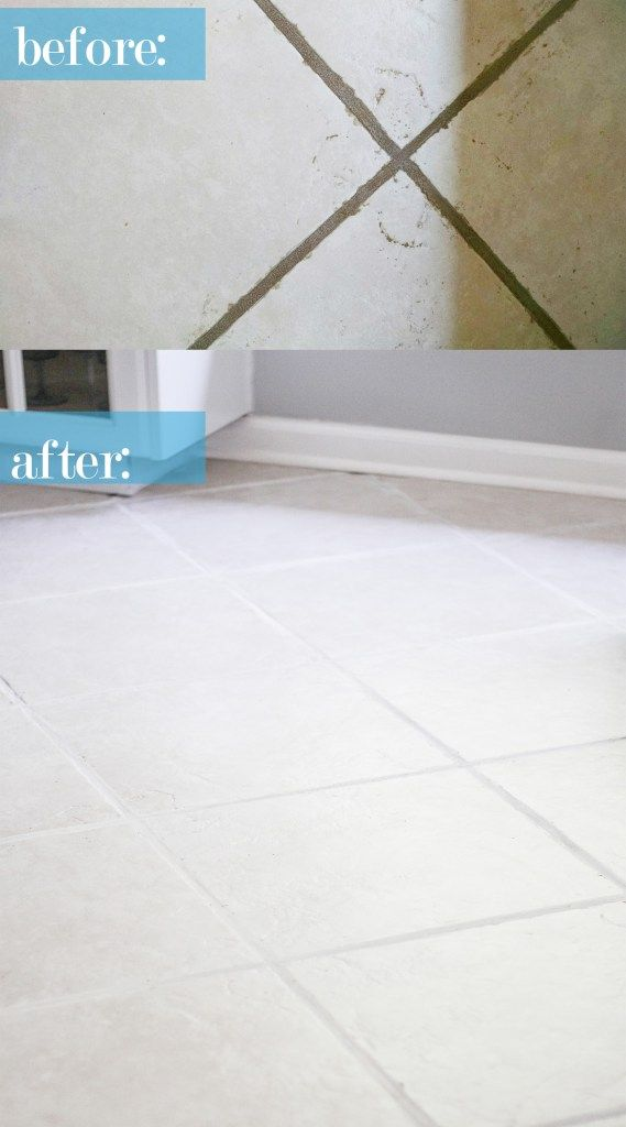 The Easiest Way To Clean Filthy Neglected Tile Flooring Cleaning Tile Floors Cleaning Ceramic Tiles Clean Tile