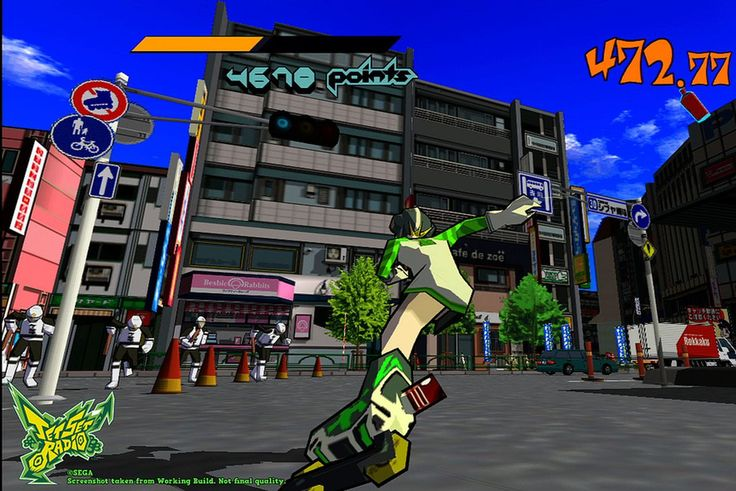 You can play Jet Set Radio now via backwards compatibility   Jet Set Radio is available on Xbox One now via 360 backwards compatibility.  The Dreamcast classic came to the Xbox 360 in 2012 offering a HD remake of the cult favourite rollerblading tag-'em-up.  The other two games joining the backwards compatible catalogueare MX vs. ATV Reflex and Texas Hold Em a 2007 poker game made by Gearbox Software (I know right?).  Cant keep up with whats what in terms of backwards compatibility? Its okay…
