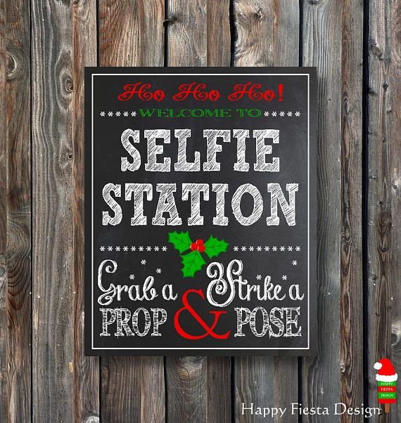 PRINTABLE Christmas Selfie Station–Christmas Photo Booth Sign-Christmas Chalkboard–Printable Selfie Sign–Christmas Selfie–Instant Download-S1 3 sizes included: 8x10, 11x14, 16x20 ******************************************************************** *** This is an INSTANT DOWNLOAD