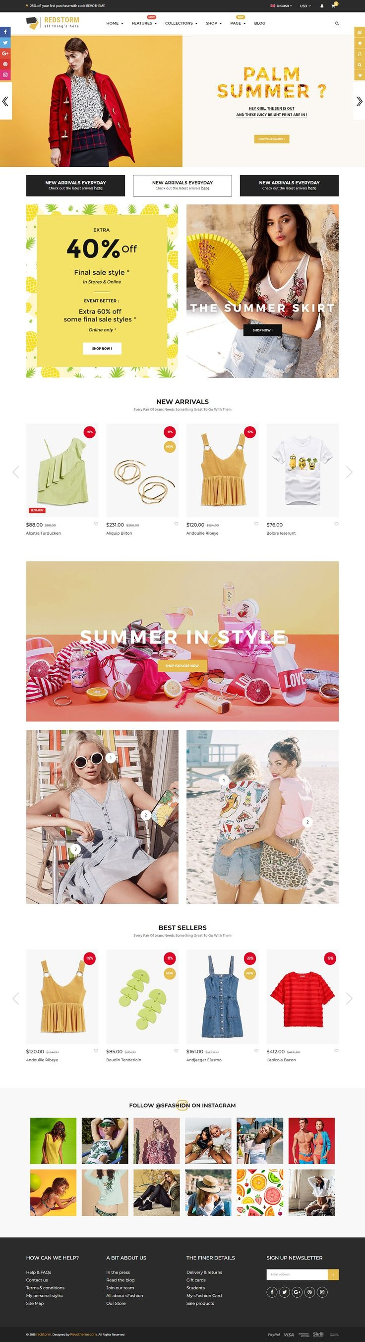 🎉🎉🎉New Release | RedStorm - An elegant and intuitive premium #Shopify #theme that helps you quickly and easily create a professional looking and definite online shop.