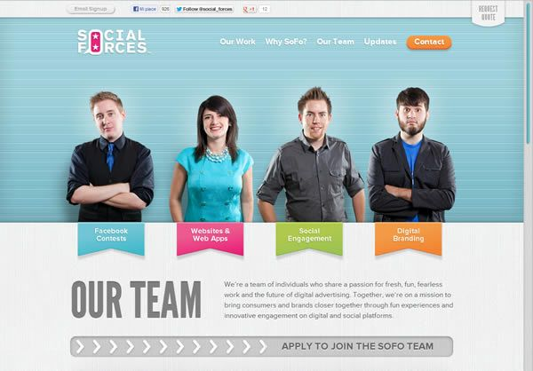 Web designers portfolio inspiration: Social Forces, about #webdesign #inspiration
