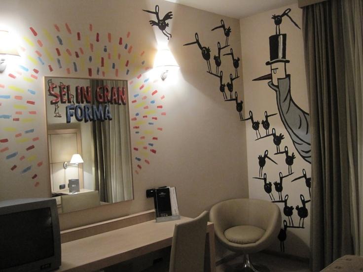 Liniers' drawings as wallpaper.