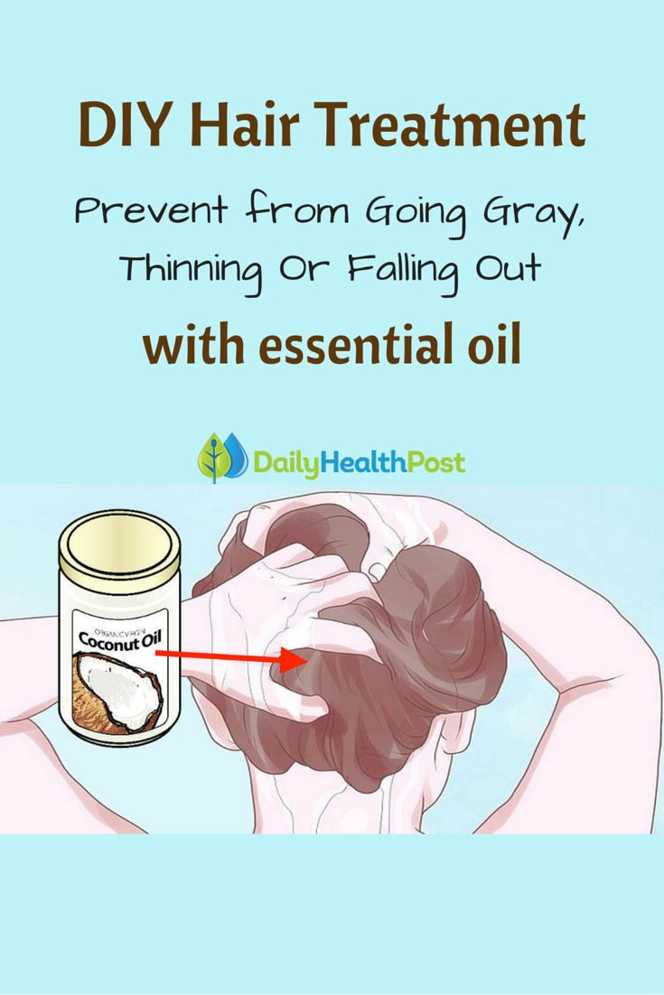 How To Put Coconut Oil In Your Hair To Stop It From Going Gray, Thinning Or Falling Out #essential#oils#beauty#DIY