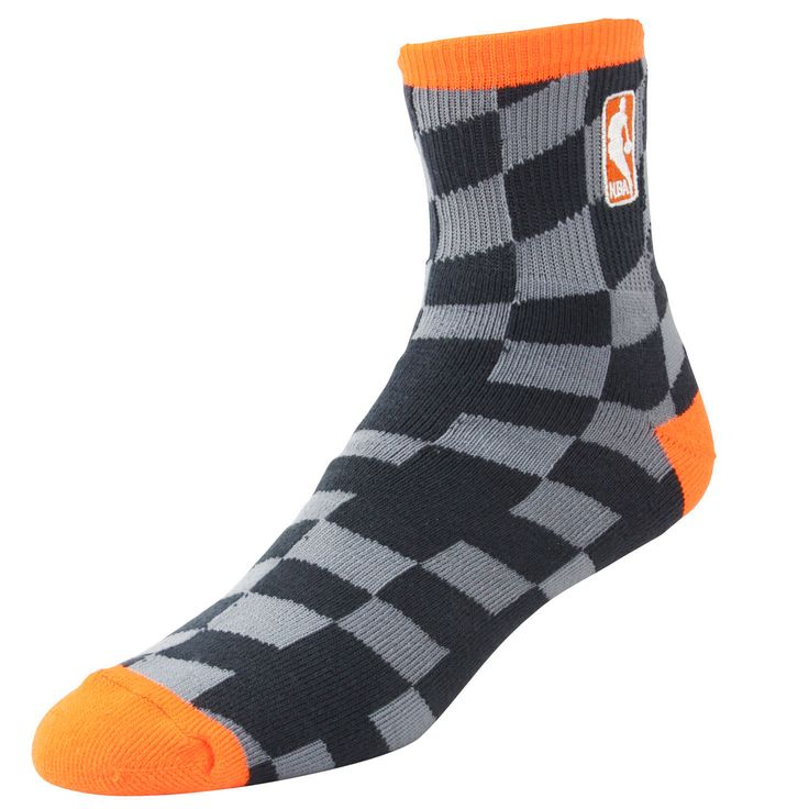 NBA Logo Champion Socks - Charcoal/Light Orange - $8.54