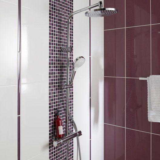 17 meilleures id es propos de salle de bains prune sur for Carrelage salle de bain violet