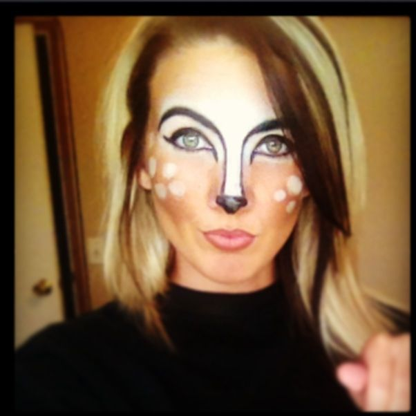 Bambi theatrical makeup By Lexi C. Miller