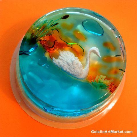 Gelatin Art Swan