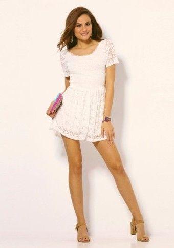 Čipkovaný overal so šortkami #modino_sk #modino_style #coverall #mono #style #fashion #outfit