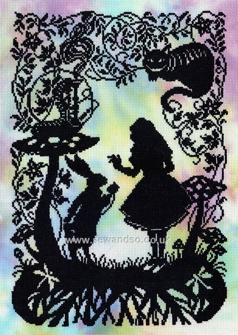 Buy Alice in Wonderland Cross Stitch Kit Online at www.sewandso.co.uk