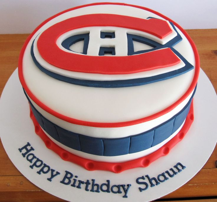Montreal Canadians Logo Cake