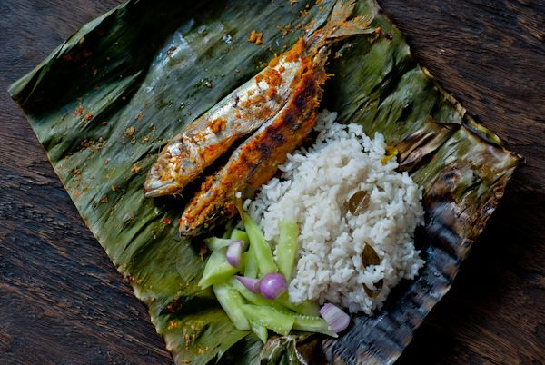 Grilled fish with banana leaves, Indonesian ikan pepes