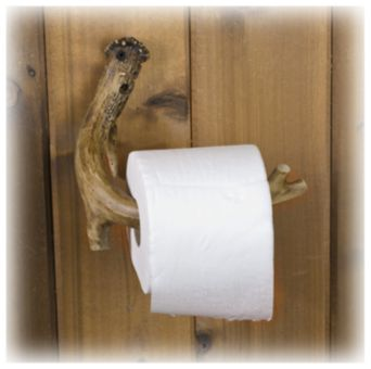 Replica Antler Toilet Paper Holder | Bass Pro Shops- kind of want this!!!