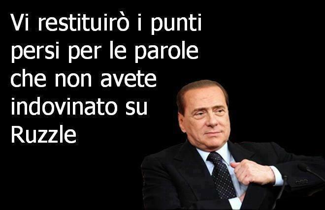 Berlusconi e #ruzzle