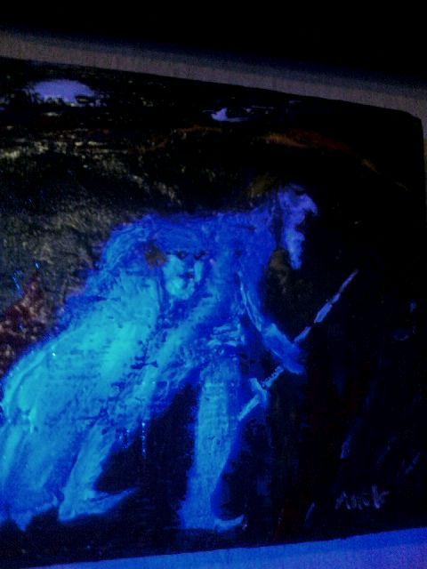 Don Quijote és Sancho Panza -fatábla,lakkozott tempera a Galériából