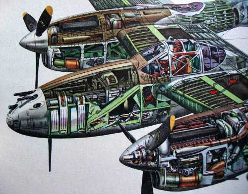 P-38 Lightning Cutaway