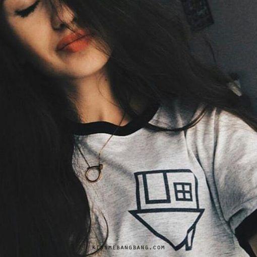 The Neighbourhood Pocket Ringer T-shirt ;Tumblr Tee ; Grunge Tshirt KISSMEBAN GBANG.COM