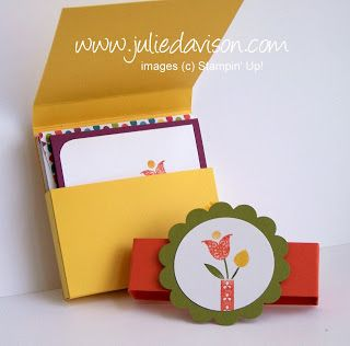 Julie's Stamping Spot -- Stampin' Up! Project Ideas by Julie Davison: Summer Smooches 3x3 Note Holder Printable Tutorial