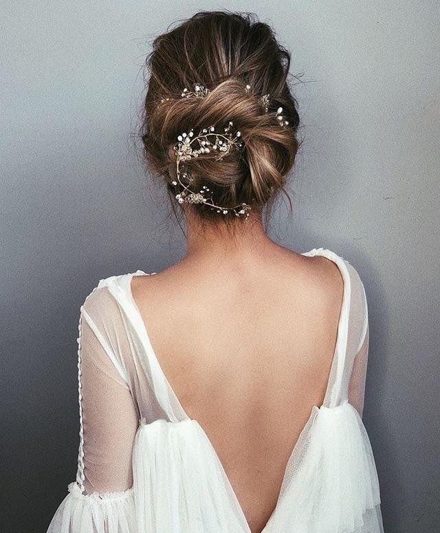 Gorgeous back of a beautiful wedding dress