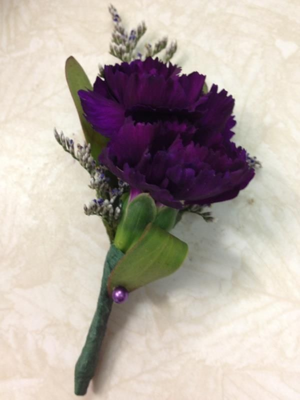 carnation boutonniere | Purple Carnation Boutonniere- Prom 2013 Find us on Facebook! www ...