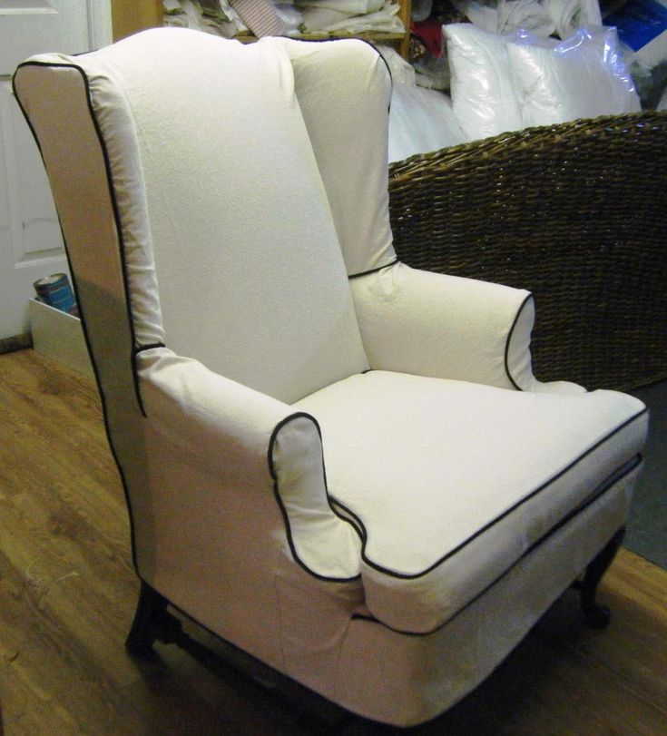 Wingback Chair Slipcover Decor Ideas White Wingback Chair Slipcover