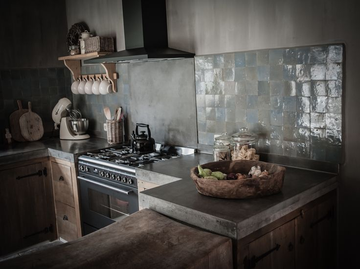 How do we all like this rustic look for the kitchen? Would you add any of these features in your custom townhome?