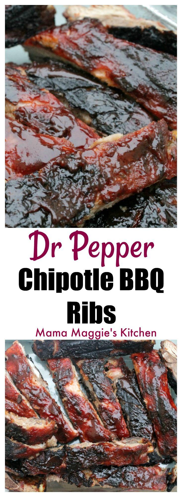 Dr. Pepper Chipotle BBQ Ribs - grill, grilling, BBQ - via @MamaMaggiesKitchen  #sponsored #GrillGatingHero #GrillGating