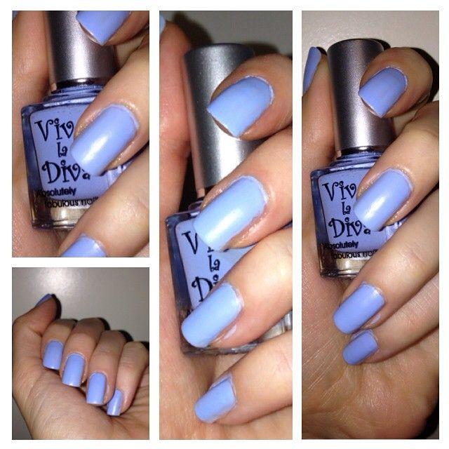 Blue matte nailpolish- Opal