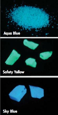 glow in the dark stones for your home- driveways, flooring, pattern making.