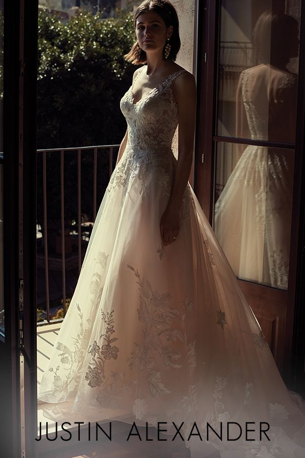 88086 Tulle And Lace Ball Gown With Chapel Length Train Wedding Dresses Lace Ball Gowns Sophisticated Wedding Dresses