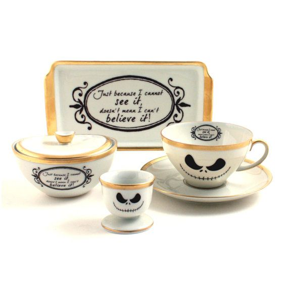 Nightmare Before Christmas Coffee Set Cup Eggcup Small Tray