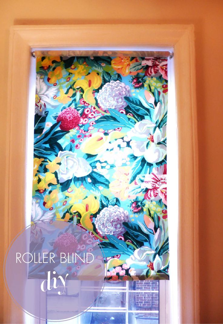 DIY Fabric Roller Blinds   there comes a yes