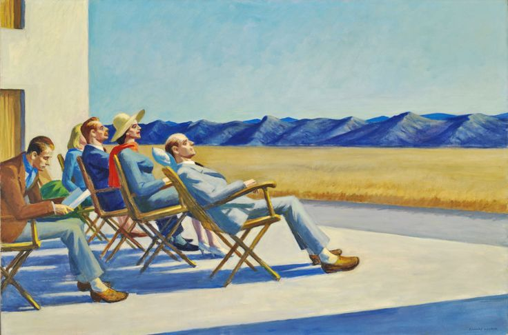 Edward Hopper (1882-1967), People in the Sun, 1960. oil on canvas, 40 3/8 x 60 3/8 inches