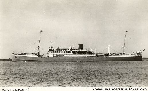 Indrapoera - this ship brought my family to Holland in 1946