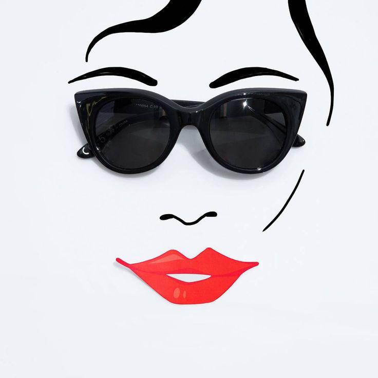 Śledź nas na Instagramie: > https://www.instagram.com/answear/#answear #smile #redlips #mango #sunglasses #drawing #fashion #sketch