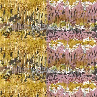 Vuohenputki är ett tyg från Marimekko med ett härligt mönster och mustiga färger och är inspirerat av ett målat landskap som beskriver den vackra förändringen av årstiderna. Tyget är snyggt annorlunda då halva är gult och halva är rosa. Vuohenputki blir riktigt fint att använda som duk och även att sy kuddfodral av då man kan få sidorna i olika färger.