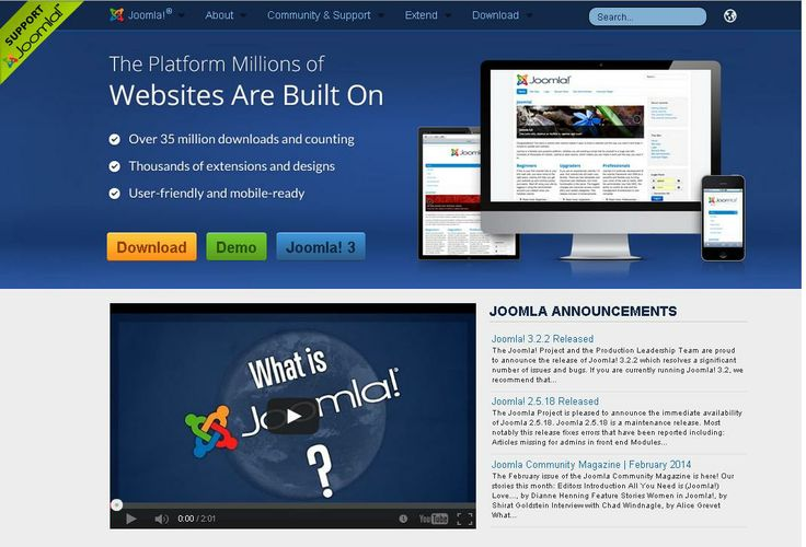 Joomla   For More: http://www.themangomedia.com/blog/selecting-right-cms-website-for-your-business-with-industry-trends/