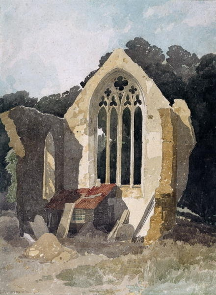 The Refectory at Walsingham Priory - John Sell Cotman - Leeds Art Gallery Print on Demand Art Gallery Website