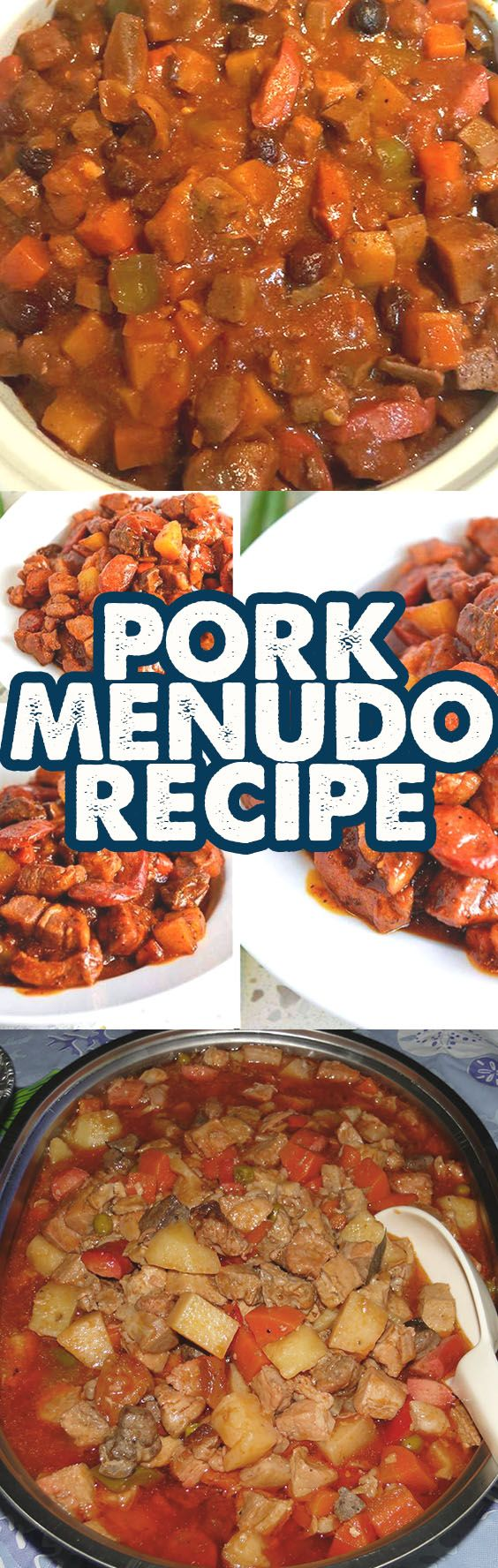 The Pork Menudo Recipe originated during the Spanish Colonization but this dish is a true Filipino dish of sauteed pork meat, potatoes, and carrots, raisins, and beef or pork liver. This Recipe is far different from Kaldereta and Afritada.