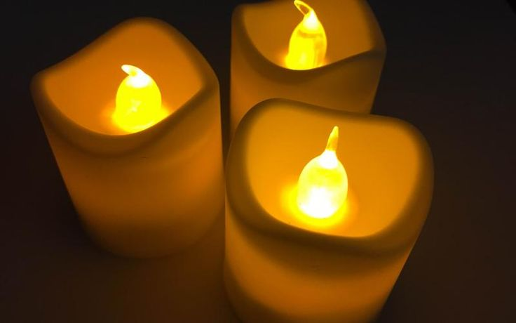 Velas Led Ambar | Luces Mágicas