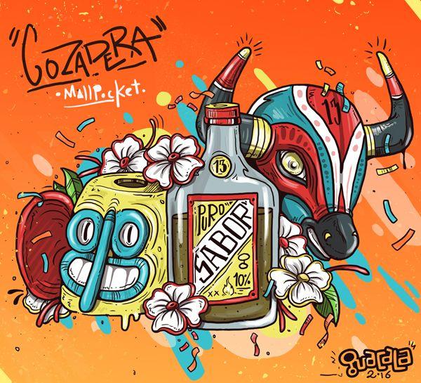 Ilustracion para la portada de la revista MallPocket en su edicion No. 41 /// Gozadera . Pueden pillar la revista aca https://issuu.com/mallpocket/docs/mallpocket_ed41_issu