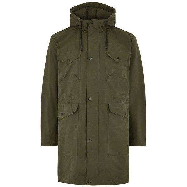topman khaki parka coat 5130 rub liked on polyvore featuring mens fashion - Mantel Der Ideen Mit Uhr Verziert