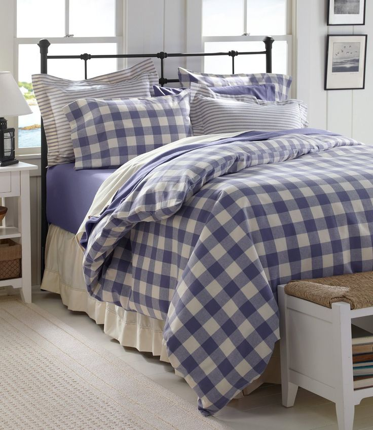 L L Bean Ultrasoft Flannel Comforter Plaid Bedding Sets Bed Home