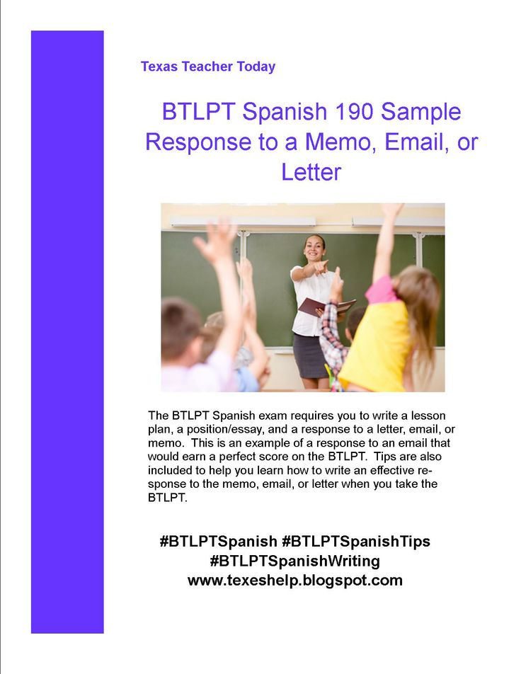 The BTLPT Spanish exam requires you to write a response to an email, memo, or letter. This document, available on my blog, gives you tips on how to write an effective response, and also an example of a response to an email that would earn a perfect score on the BTLPT Spanish exam. #BTLPT #BTLPTSpanish #BTLPTTips #BTLPTSpanishTips #BTLPTWriting