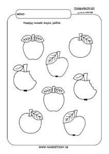 Jablko - pracovný list pre deti