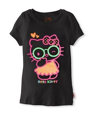 69% OFF Hello Kitty Girl's Neon Tee (Anthracite)