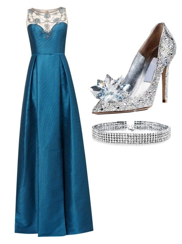 """""""Untitled #14"""" by simranbasi12 on Polyvore featuring Adrianna Papell and Bling Jewelry"""