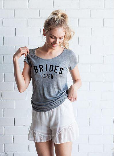 Bridal Tshirt / Brides Crew / Wedding Morning T-shirt / Bridal Party T-shirts