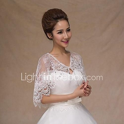 Sleeveless Lace Wedding Party Evening Casual Office & Career Wedding  Wraps With Rhinestone Capelets - USD $11.39 ! HOT Product! A hot product at an incredible low price is now on sale! Come check it out along with other items like this. Get great discounts, earn Rewards and much more each time you shop with us!