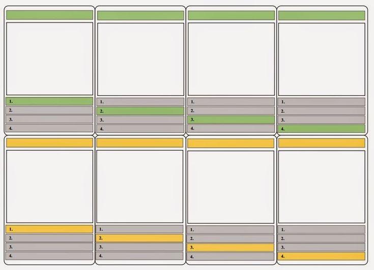 ICT-idee: 209. Word-sjabloon: Maak je eigen kwartetspel.