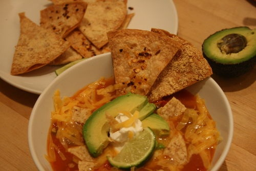 Tortilla Soup Two Ways (Vegetarian or Chicken) | Favorite Recipes ...